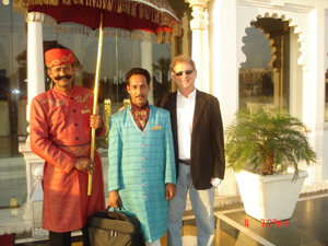 umbrella organization at Lake Palace in India